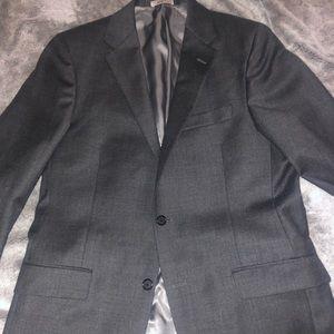Hickey Freeman Dark Grey Two Button 40L Blazer